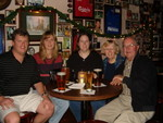 All 5 of us having a drink at George and the Dragon